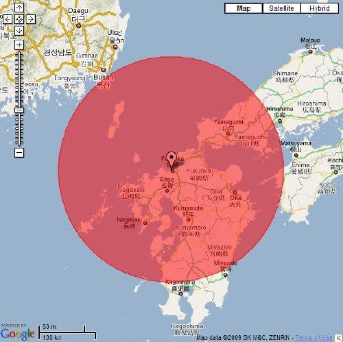 朝鮮半島は徒歩圏内です。