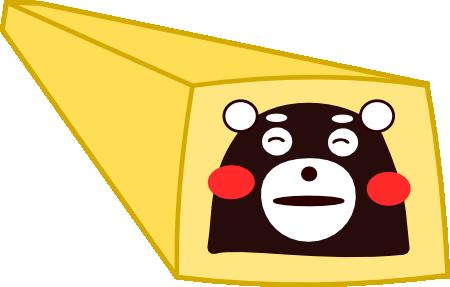 くまモンクッキー生地のイメージ図
