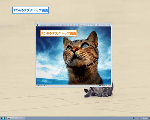 操作するPC(Cleint)で見た画面です