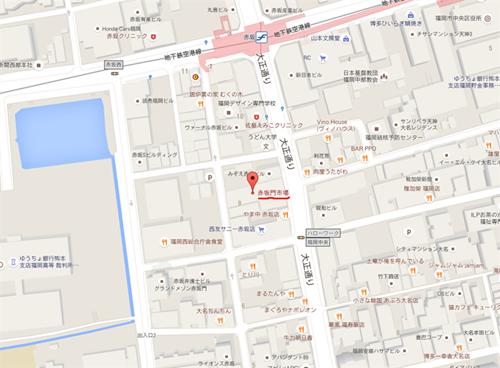 間もなく福岡市中央区の地図から消滅する赤坂門市場