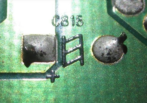 基板裏側の識別記号